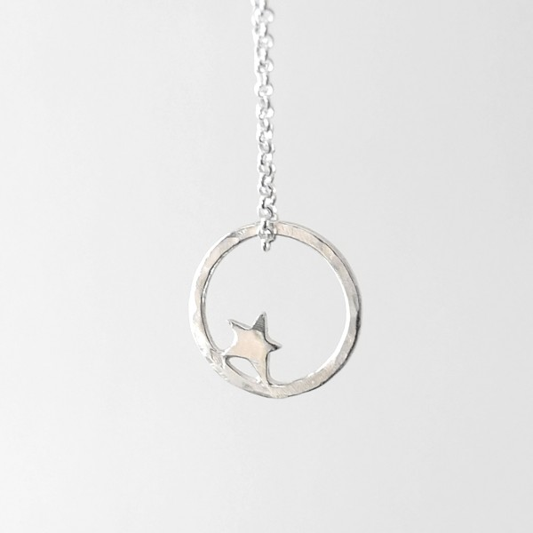 Petit collier étoile Nova en argent massif  Nova 37,00€
