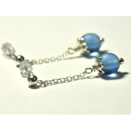 Star pendant on chain. Sterlin silver.