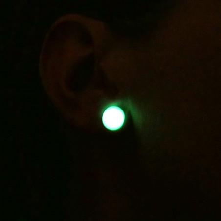 Boucles d'oreilles rondes en argent 925 et résine phosphorescentes collection Niji NIJI 30,00€