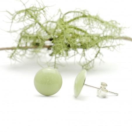 Sterling silver minimalist earrings with phosphorescent resin  NIJI 30,00€