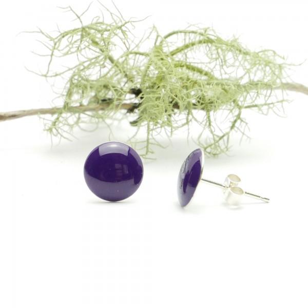 copy of Sterling silver minimalist earrings with purple resin NIJI 30,00€