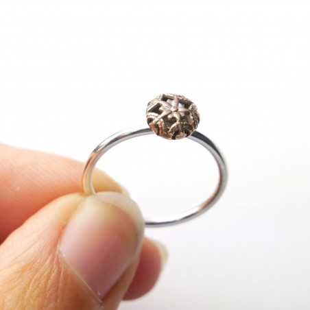 Little sterling silver and bronze ring Home 27,00€