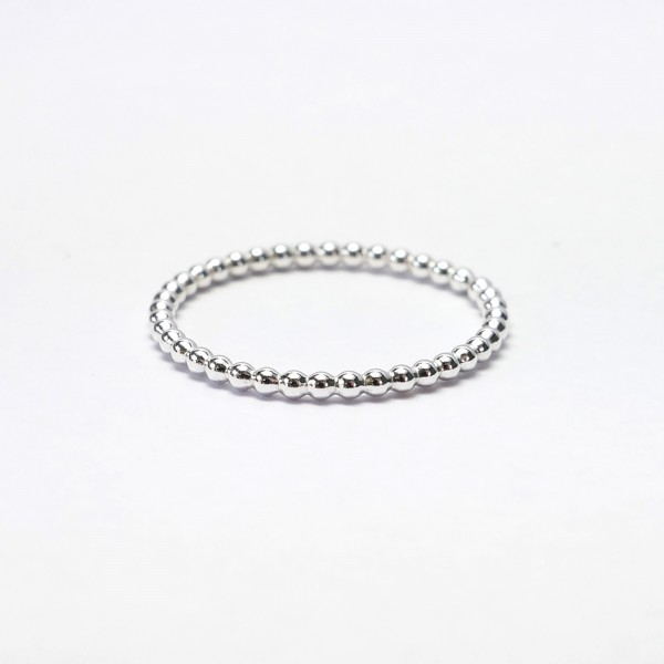 Minimalist sterling silver pearl ring for marriage