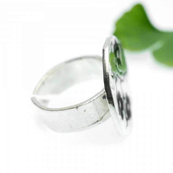 Schwarze Kirschblumen Sterling Silber verstellbarer Ring Kirschblumen 107,00€