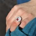 Minimalistische kleine Sterling Silber Ohrringe mit Stern MIN