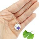 Minimalistischer kleiner Sterling Silber Ring mit Phosphoreszentes Harz NIJI