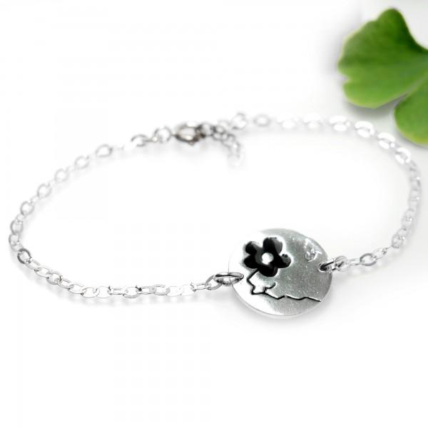 Black Cherry Blossom sterling silver bracelet Cherry Blossom 57,00€