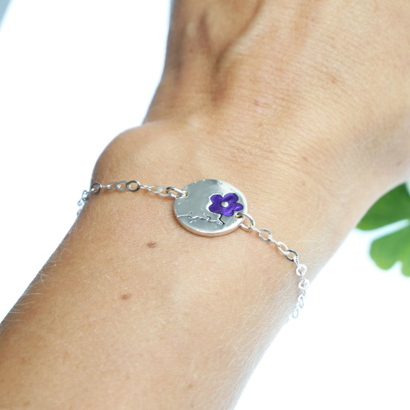 Violet Cherry Blossom sterling silver bracelet Cherry Blossom 57,00€