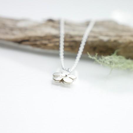 Sakura pendant on 925 silver chain made in France Desiree Schmidt Paris Prunus 35,00€