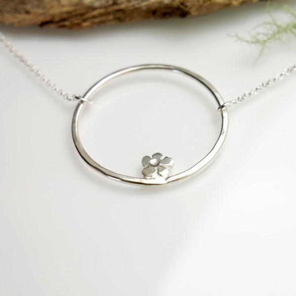 Sterling Silber Prunus Blume Halskette Prunus 57,00€