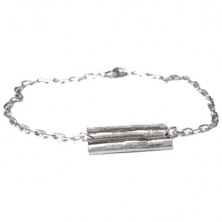 Bamboo bracelet. Sterling silver. Pour homme 75,00€