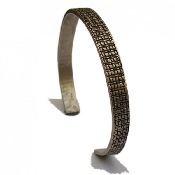 Bracelet rigide Building en argent massif mat et patine noire Pour homme 147,00€