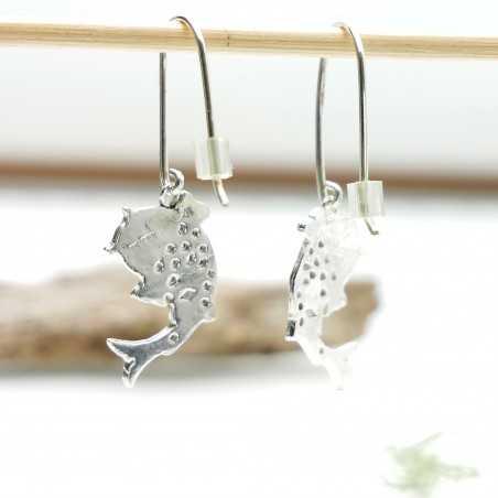 Sterling silver Koï carp pendent beautiful earrings Koi 77,00€