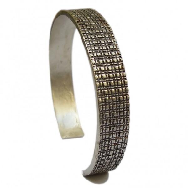 Bracelet rigide Building en argent massif mat et patine noire Pour homme 187,00€
