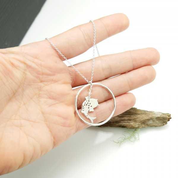 Kleine Koi-Karpfen verstellbare Kette aus 925 Silber Koi 77,00€