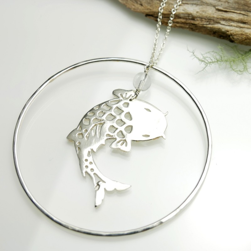 Koï fish long necklace. Sterling silver. Koi 127,00 €