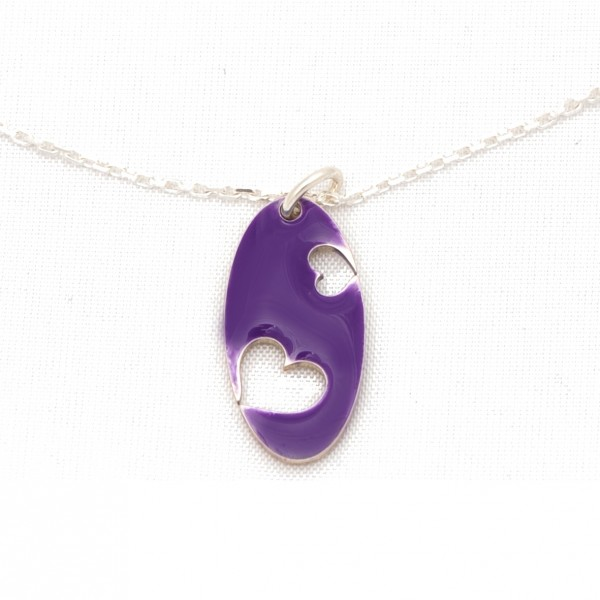 Valentine necklace sterling silver and purple resin Desiree Schmidt Paris Valentine 57,00 €