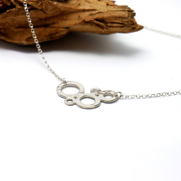 Awa bubble small adjustable necklace. Sterling silver.  AWA 57,00 €