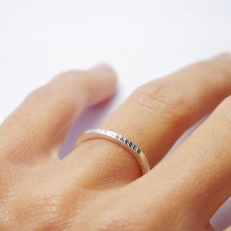 Minimalistische kleine Sterling Silber Ohrringe mit Ocean blaues Harz