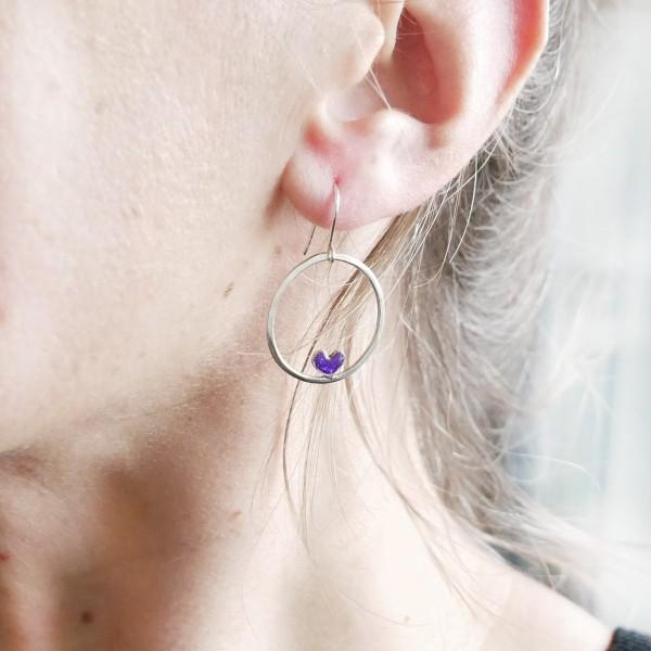 Boucles d'oreilles coeur Valentine en argent massif Valentine 67,00€