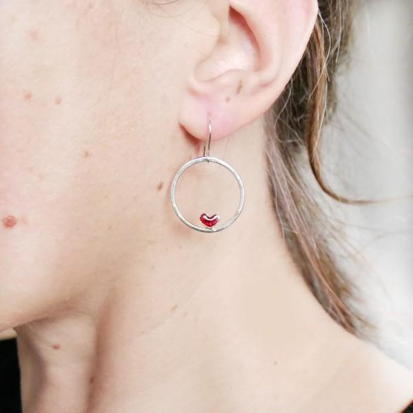 Valentine Herz Ohrringe aus Sterling Silber Valentine 67,00€