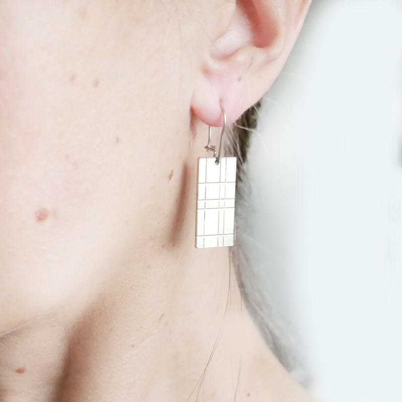 Boucles d'oreilles Kilt en argent massif Kilt 67,00€