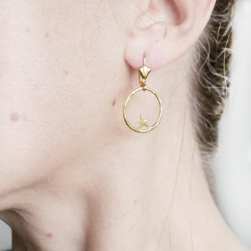 copy of Nova star earrings. Fine golded bronze. Nova 55,00€