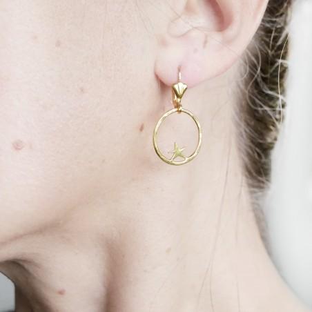 copy of Boucles d'oreilles pendentes étoiles dorées à l'or fin Nova 55,00€