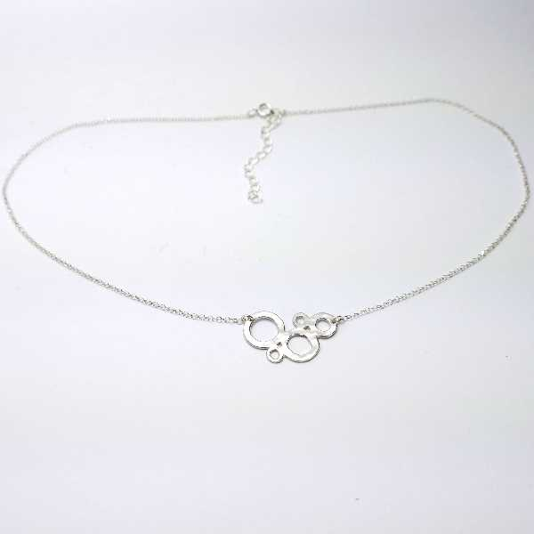 Awa bubble small adjustable Sterling silver necklace Desiree Schmidt Paris AWA 57,00€