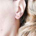 Boucles d'oreilles pendantes Litchi en argent massif Litchi