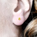 Grandes boucles d'oreilles Litchi en argent massif Litchi