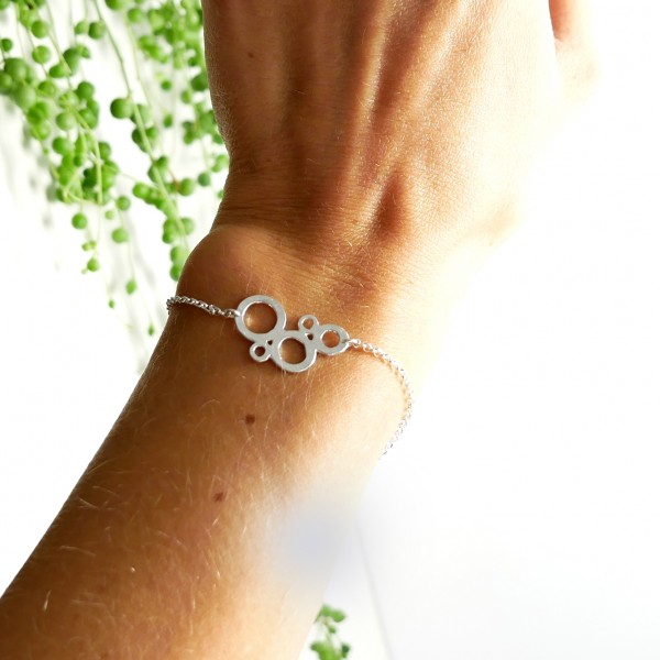 Awa bubble ajustable bracelet. Sterling silver.  AWA 55,00 €