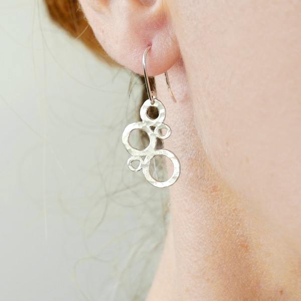 Boucles d'oreilles bulles Awa en argent massif Awa 67,00€