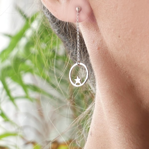 Nova Stern lange Ohrringe aus 925 Silber  Nova 57,00€