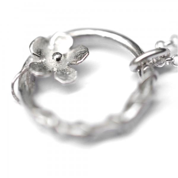 925/1000 silver cherry blossom pendant necklace made in France Desiree Schmidt Paris Sakura 57,00€