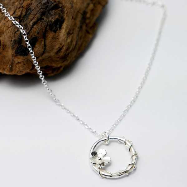 sakura pendant on 925 silver chain made in France Desiree Schmidt Paris Sakura 57,00€