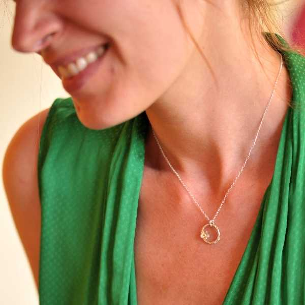 925/1000 silver sakura pendant necklace made in France Desiree Schmidt Paris Sakura 57,00€