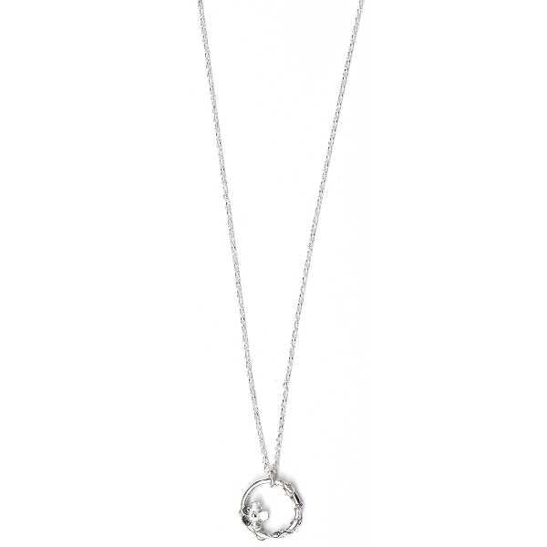woman necklace silver 925 flower made in France Desiree Schmidt Paris Sakura 57,00€