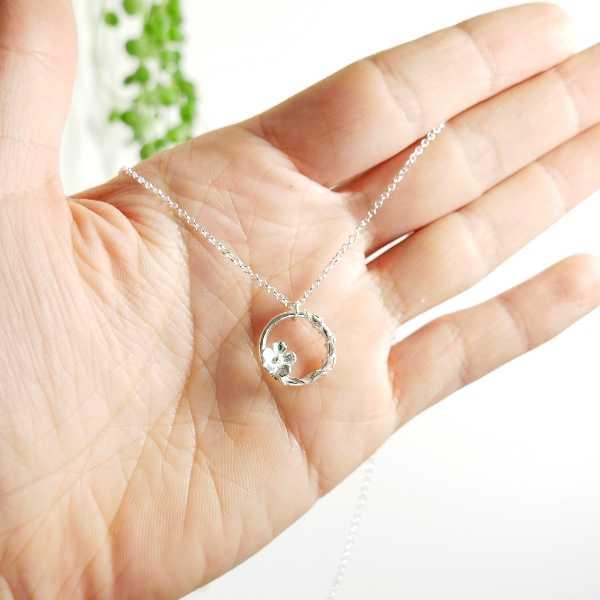 minimalist sakura pendant in 925 silver made in France Desiree Schmidt Paris Sakura 57,00€