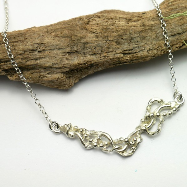 Collier réglable Volubilis en argent massif 925/1000 Desiree Schmidt Paris Volubilis 67,00 €