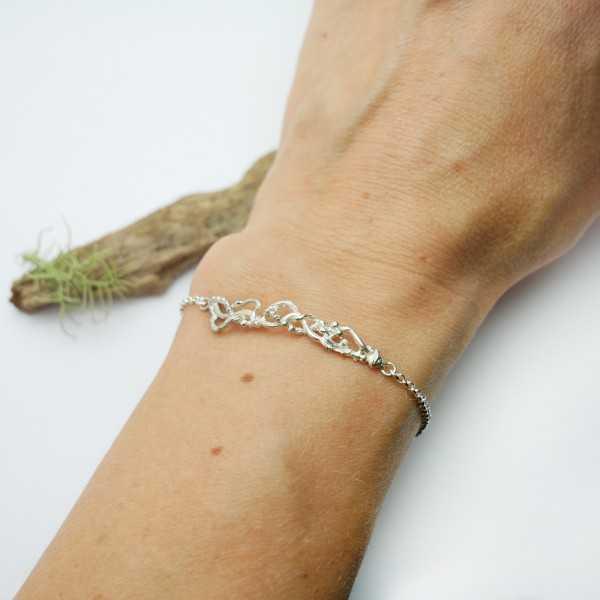 Bracelet réglable Volubilis en argent massif 925/1000 Volubilis 65,00€