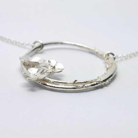 adjustable necklace flower of Japan silver 925 made in France Desiree Schmidt Paris Sakura 77,00€
