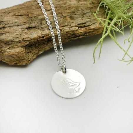 Sterling silver minimalist adjustable necklace with bird Desiree Schmidt Paris MIN 25,00€