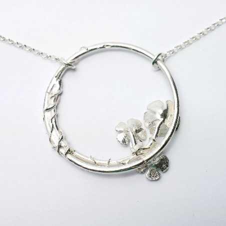 925/1000 silver sakura pendant necklace made in France Desiree Schmidt Paris Sakura 77,00€