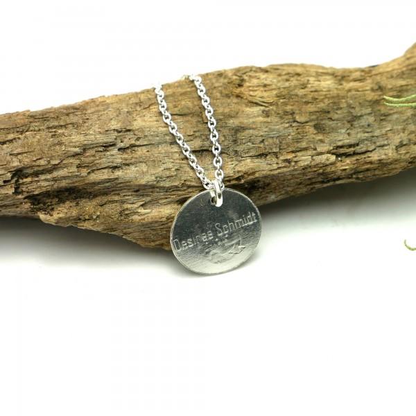 Sterling silver minimalist adjustable necklace with flower Desiree Schmidt Paris MIN 25,00€
