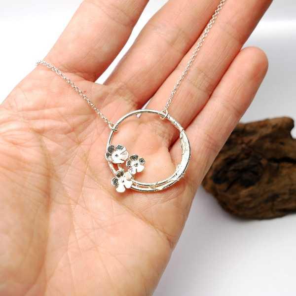 sakura pendant on 925 silver chain made in France Desiree Schmidt Paris Sakura 77,00€