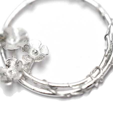 woman necklace silver 925 flower made in France Desiree Schmidt Paris Sakura 77,00€