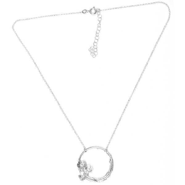 minimalist necklace flower silver 925 made in France Desiree Schmidt Paris Sakura 77,00€
