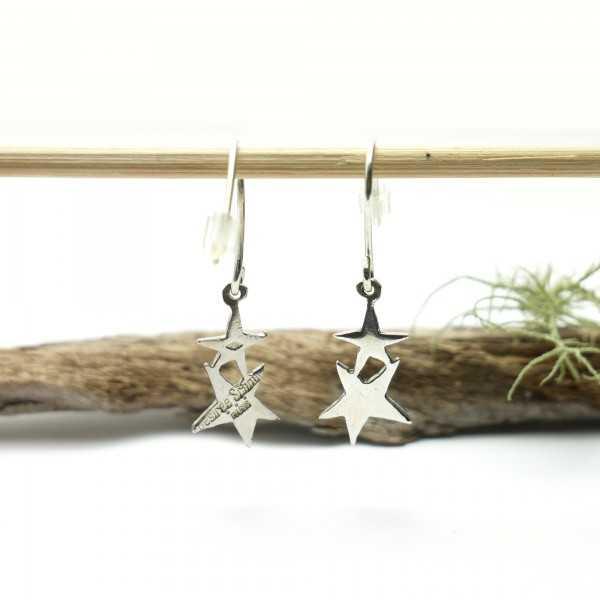 Minimalist Star Dangle 925/1000 Solid Silver Earrings, Women's Light Star Silver Earrings Home 47,00€