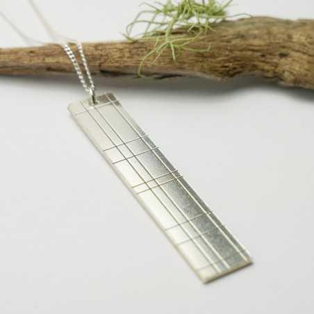 Pendant in sterling silver 925/1000 long on long chain Kilt Desiree Schmidt Paris Kilt 87,00€